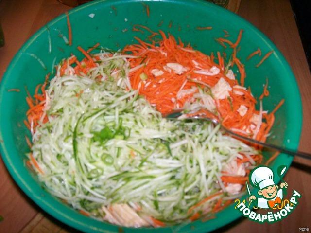 Салат с соевой спаржей рецепт с фото