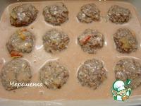 Тефтели с грибами, запеченные в духовке в томатно-сметанном соусе ингредиенты