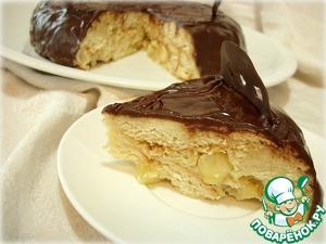 Рецепт Торт из кулича с карамельными яблоками