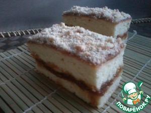 Рецепт Нежный пирог с яблочным повидлом