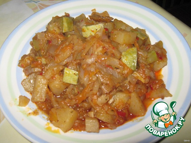 Овощное рагу рецепт без картошки с пошагово