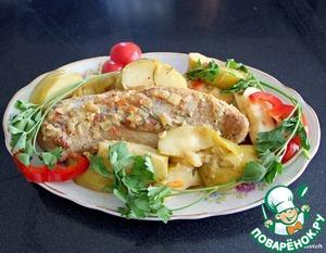 Рецепт Телятина тушеная с яблоками и дижонской горчицей