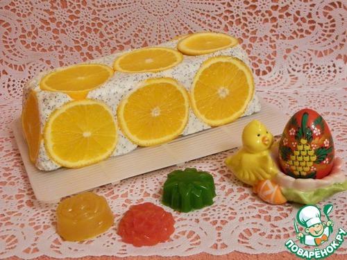 """Творожный торт с апельсинами """"Белоснежка"""""""
