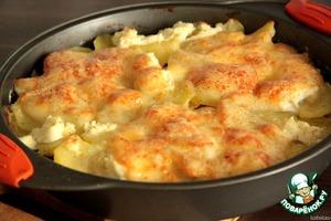 Рецепт Запеканка молочно-картофельная с телятиной