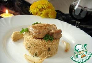Рецепт Нежная свинина с рисом и ароматом чеснока