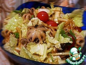 Рецепт Салат простенький с осьминожками