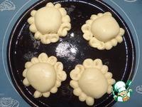 """Пирожки """"Крабики"""" с начинкой из творога и сушеной клюквы ингредиенты"""