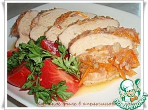 Рецепт Куриное филе в апельсиновом соусе