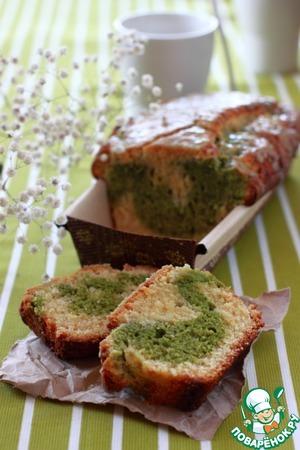Рецепт Кекс с белым шоколадом и зеленым чаем Matcha