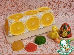 """Рецепт Творожный торт с апельсинами """"Белоснежка"""""""