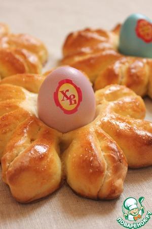 Рецепт Пасхальные булочки-подставочки для яиц