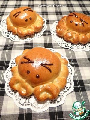 """Рецепт Пирожки """"Крабики"""" с начинкой из творога и сушеной клюквы"""