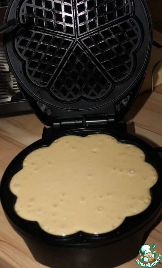 Как сделать вафли в вафельнице рецепт с без маргарина