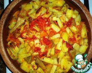 Рецепт Гювеч или говядина с овощами