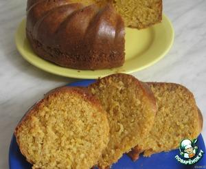 Рецепт Блестящий лимонно-творожный кекс