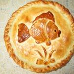 """Пирог с консервированной горбушей """"Золотая рыбка"""""""