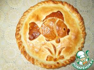 """Рецепт Пирог с консервированной горбушей """"Золотая рыбка"""""""