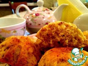 Рецепт Пасхальные кексы с лимоном и миндалём