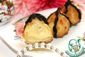 Рецепт Профитроли с манговым муссом