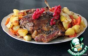Рецепт Баранина, жареная с овощами