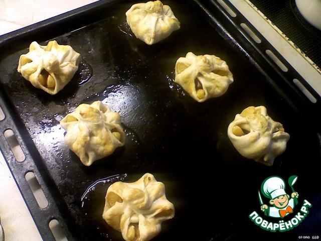 Как готовить Мандарины в слойке домашний пошаговый рецепт приготовления с фото #6