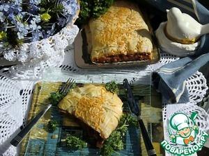 Рецепт Овощной штрудель с базиликом в тесте фило
