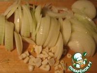 Куриные крылышки тушеные с грибами и луком ингредиенты