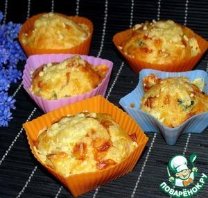 Рецепт: Закусочные маффины с сыром и курицей