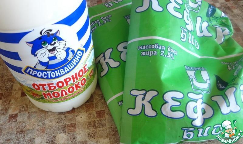 Молоко кефир как сделать творог