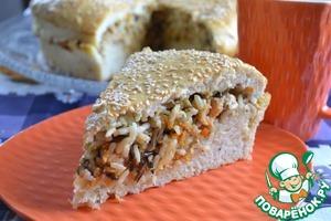Рецепт Рыбный пирог на тесте с укропом
