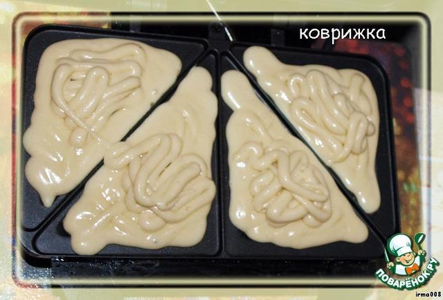 Вафли в бутерброднице рецепт с пошагово 129