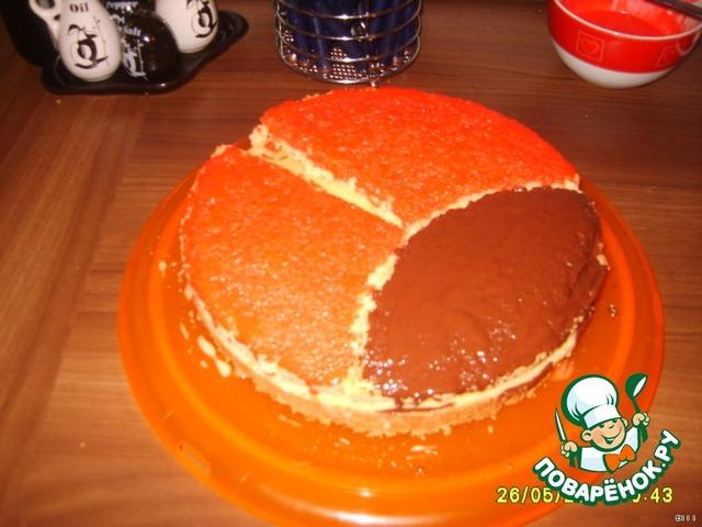 Песочный пирог с творогом и персиками консервированными рецепт