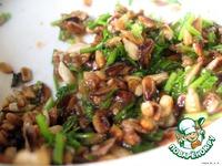 Теплый салат из шампиньонов и семечек ингредиенты