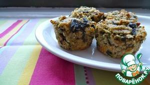 Рецепт Полезные вкуснейшие маффины с кабачком и болгарским перцем