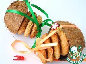 Рецепт Печенье овсяно-кокосовое «Монетки»