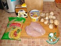Куриная грудка с грибами в сливках ингредиенты