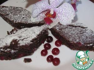 Рецепт Шоколадка-клюковка (постный пирог)