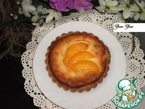 Рецепт Корзиночки с творожной начинкой и персиком
