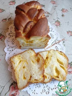 Рецепт Сладкий мраморный тыквенный хлеб