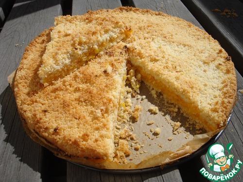 Творожный рассыпчатый пирог рецепт с фото
