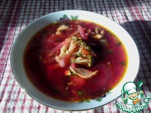 Рецепт Рыбная похлебка со свеклой и брокколи