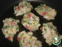 Куриные оладьи с овощами ингредиенты