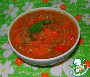 Рецепт Томатный суп с чечевицей