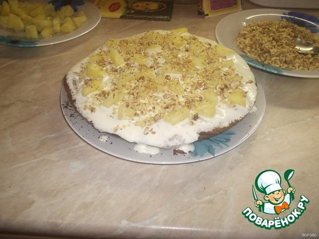 Торт панчо с ананасами пошаговый рецепт в домашних условиях