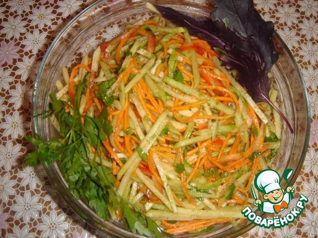 рецепты салатов из редьки дайкон с фото
