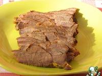"""Запеченное мясо """"Бутербродное"""" ингредиенты"""