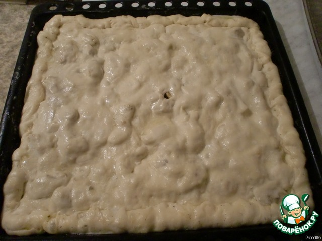 пирог с курицей и картошкой в духовке с дрожжевого теста