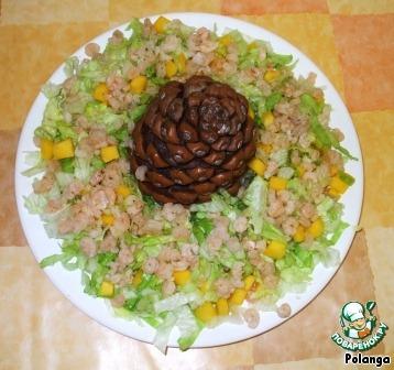 Салаты рецепт кедровая шишка 5