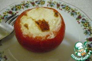 """Рецепт Горячая закуска """" Яйцо запеченное в помидоре """""""