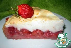 Рецепт Клубничный пирог с безе